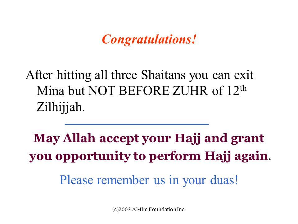 c)2003 Al-Ilm Foundation Inc  Hajj وَلِلّهِ عَلَى النَّاسِ