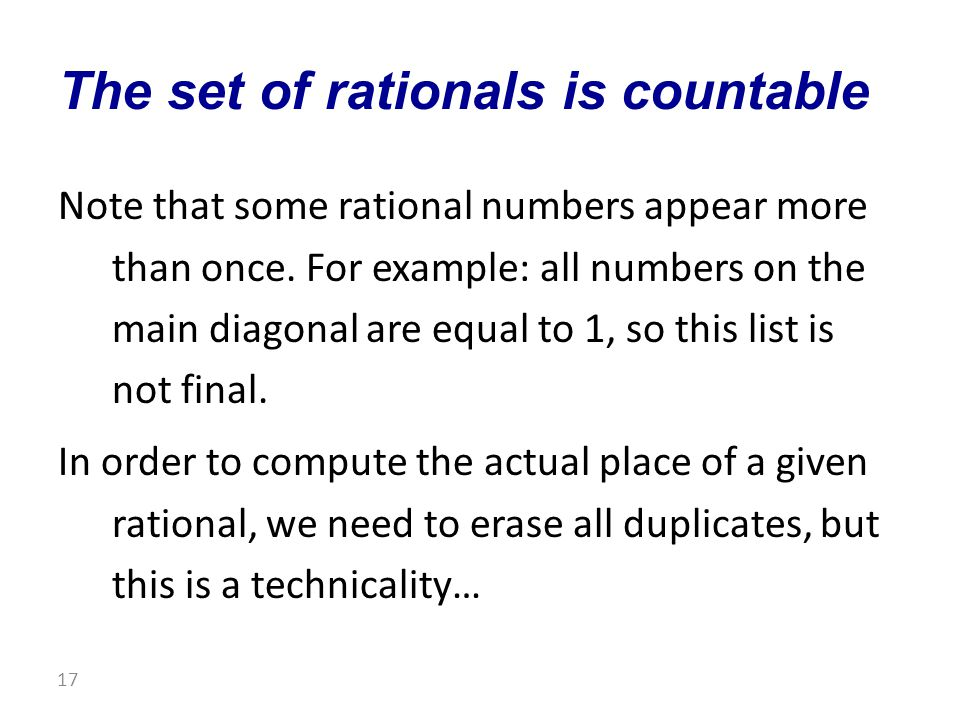 Note that some rational numbers appear more than once.