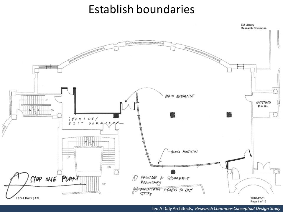 Establish boundaries Leo A Daly Architects, Research Commons Conceptual Design Study