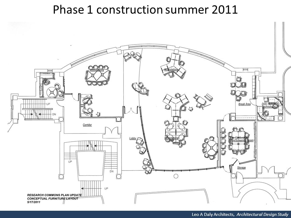 Phase 1 construction summer 2011 Leo A Daly Architects, Architectural Design Study