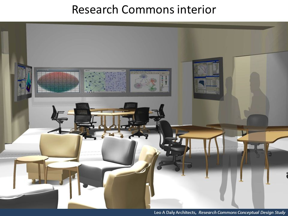 Research Commons interior Leo A Daly Architects, Research Commons Conceptual Design Study