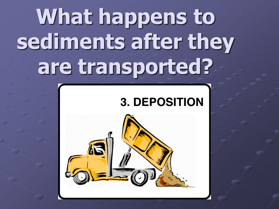 What happens to sediments after they are transported