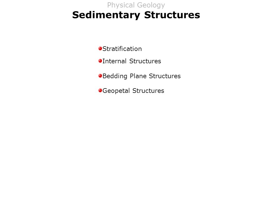 Sedimentary Structures Stratification Internal Structures Bedding Plane Structures Geopetal Structures Physical Geology