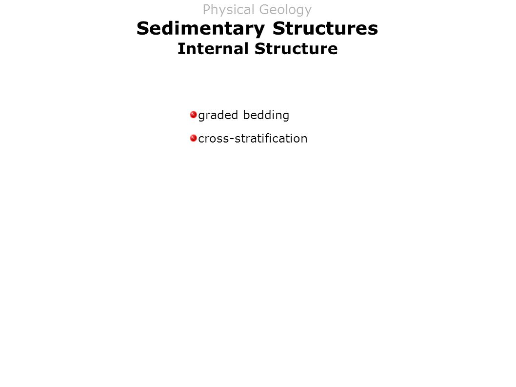 Sedimentary Structures Internal Structure graded bedding cross-stratification Physical Geology