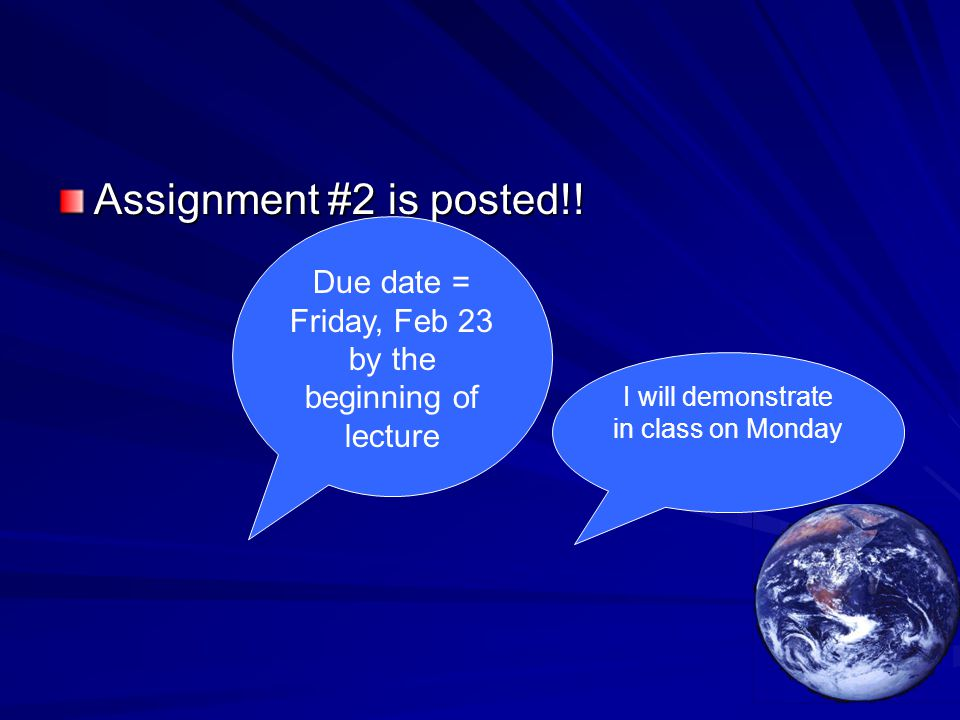 Assignment #2 is posted!.