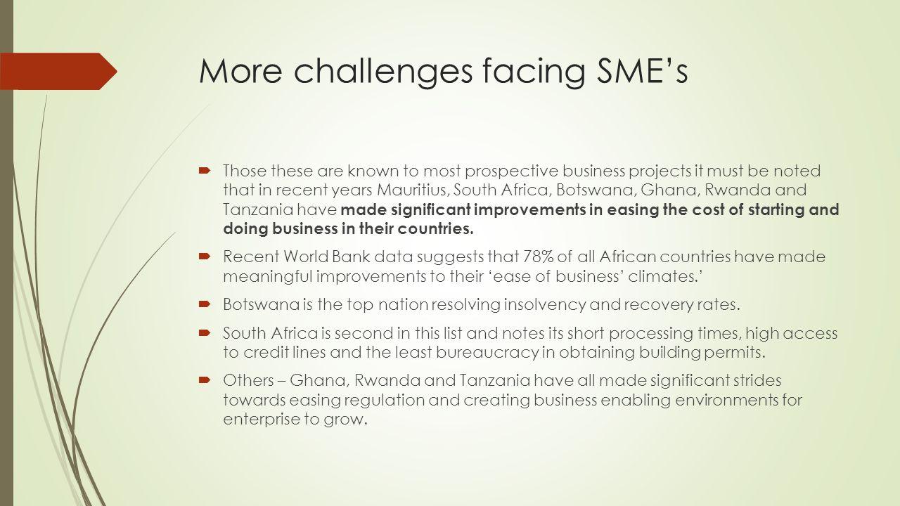 problems facing smes in tanzania