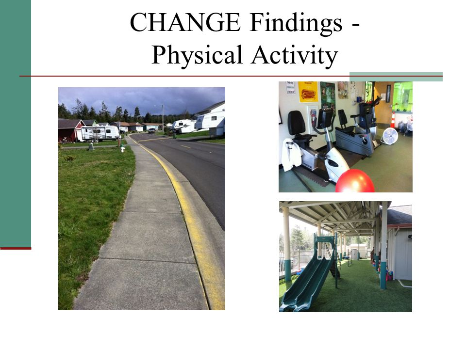 CHANGE Findings - Physical Activity