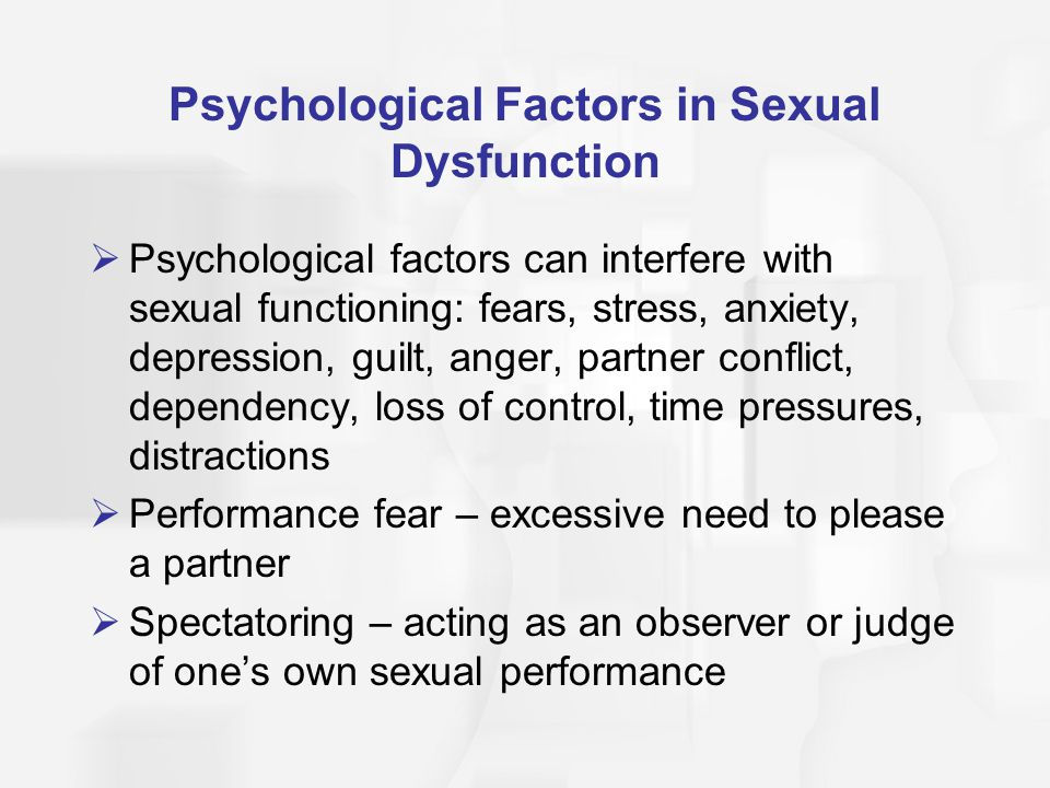 Sexual dysfunction definition psychology