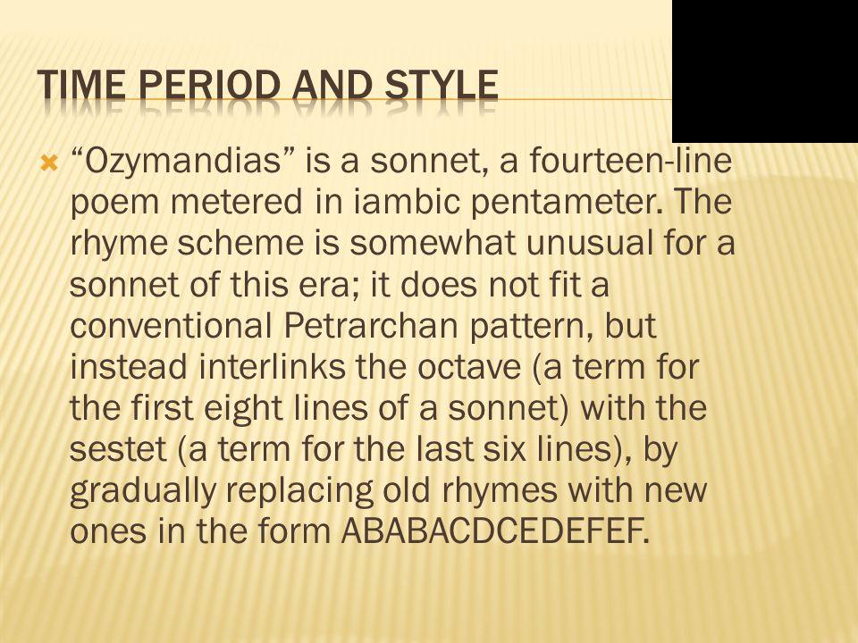 ozymandias literary devices