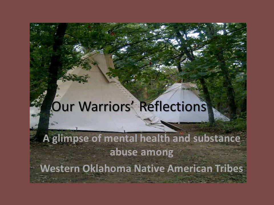 Our Warriors Reflections A Glimpse Of Mental Health And Substance
