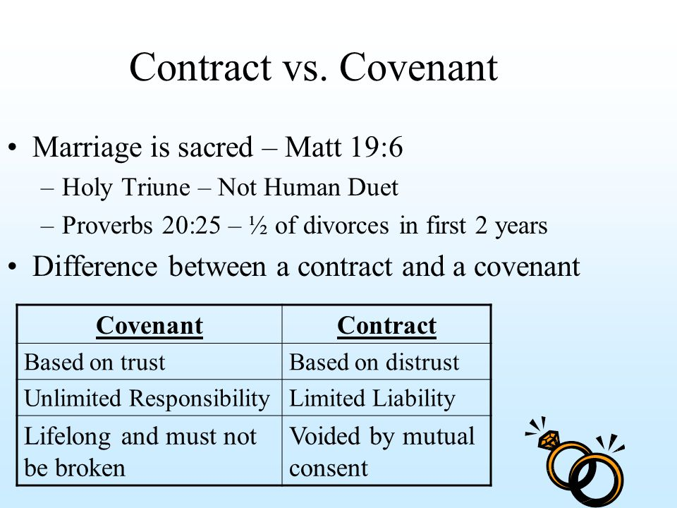 contract instead of marriage
