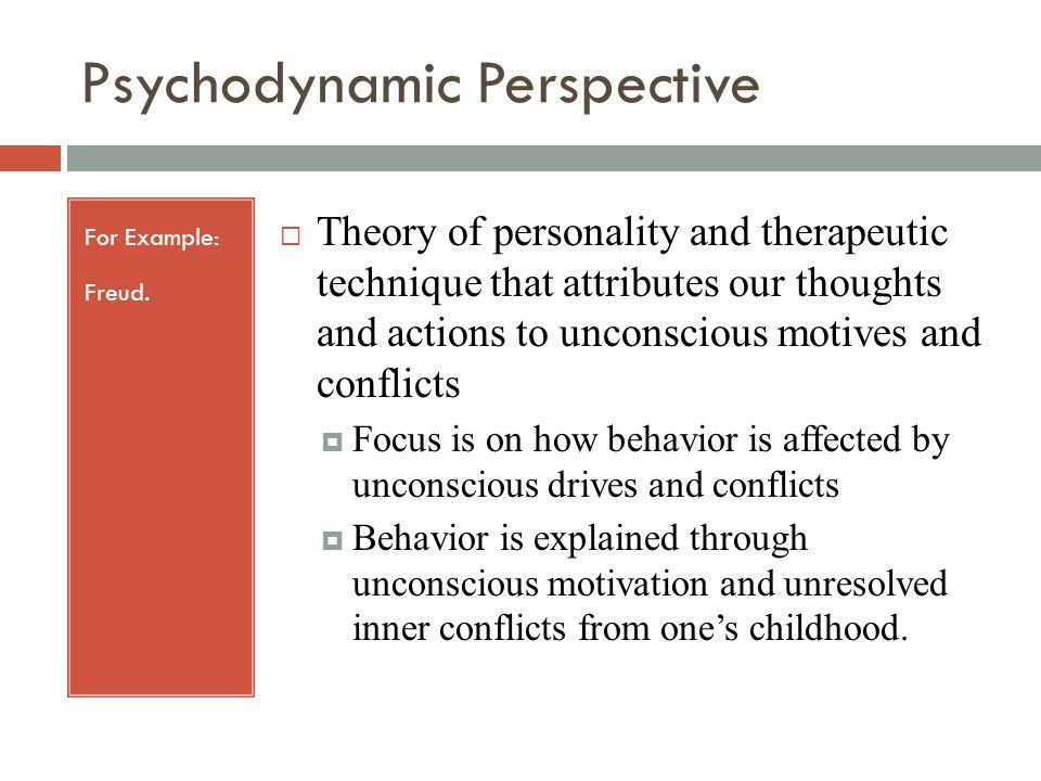 psychodynamic examples