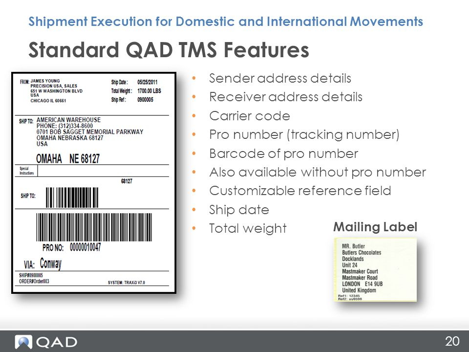 Shipment Execution for Domestic and International Movements