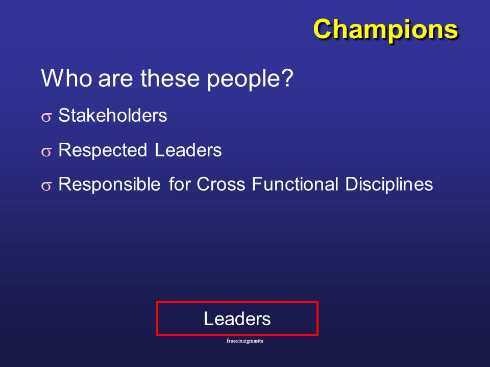 ChampionsChampions Who are these people.