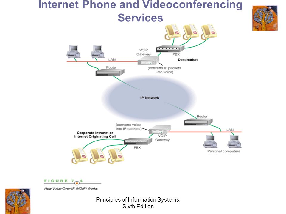 Principles of Information Systems, Sixth Edition Internet Phone and Videoconferencing Services