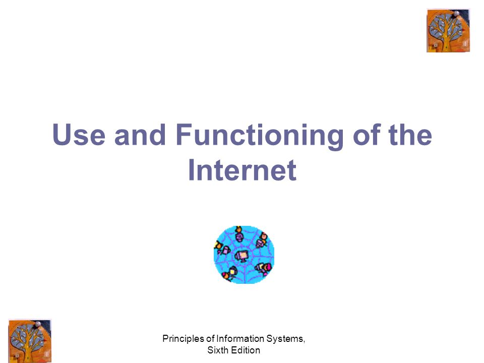 Principles of Information Systems, Sixth Edition Use and Functioning of the Internet