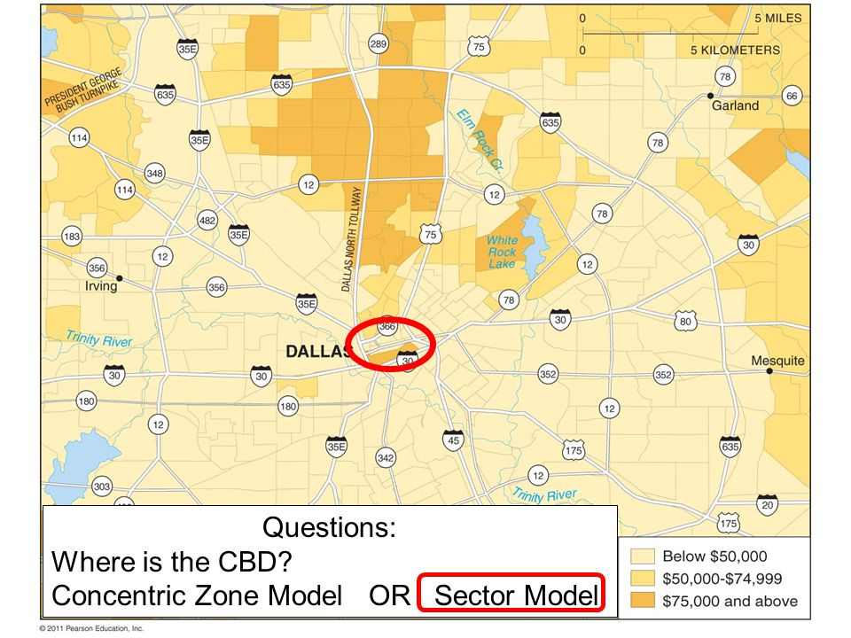 Questions: Where is the CBD Concentric Zone Model OR Sector Model