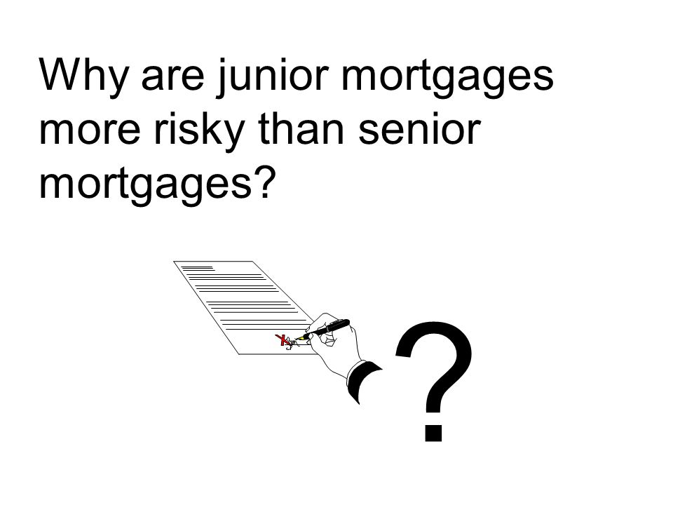 Why are junior mortgages more risky than senior mortgages