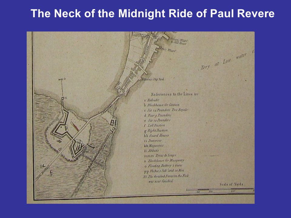 The Neck of the Midnight Ride of Paul Revere