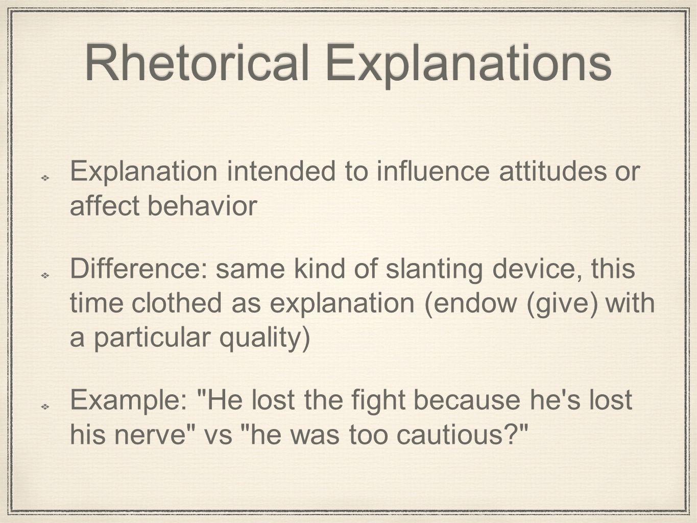 rhetorical explanation