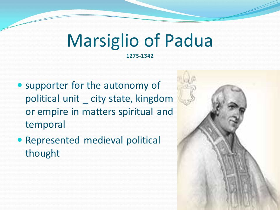 marsiglio of padua political theory