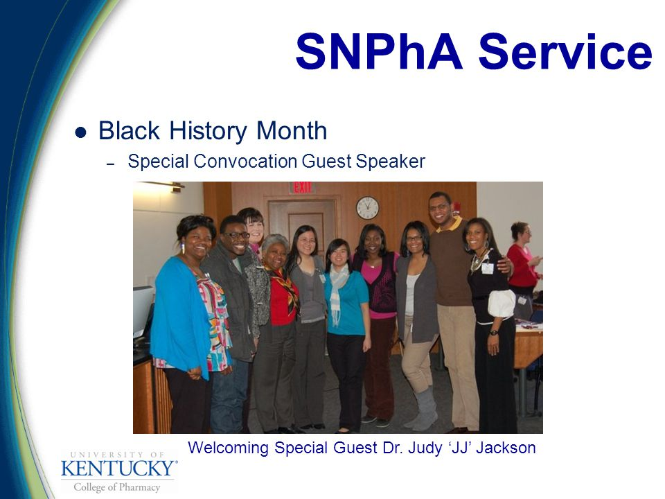Black History Month – Special Convocation Guest Speaker SNPhA Service Welcoming Special Guest Dr.