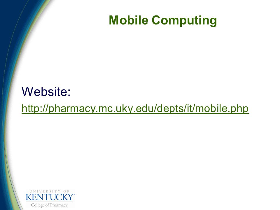 Mobile Computing Website: