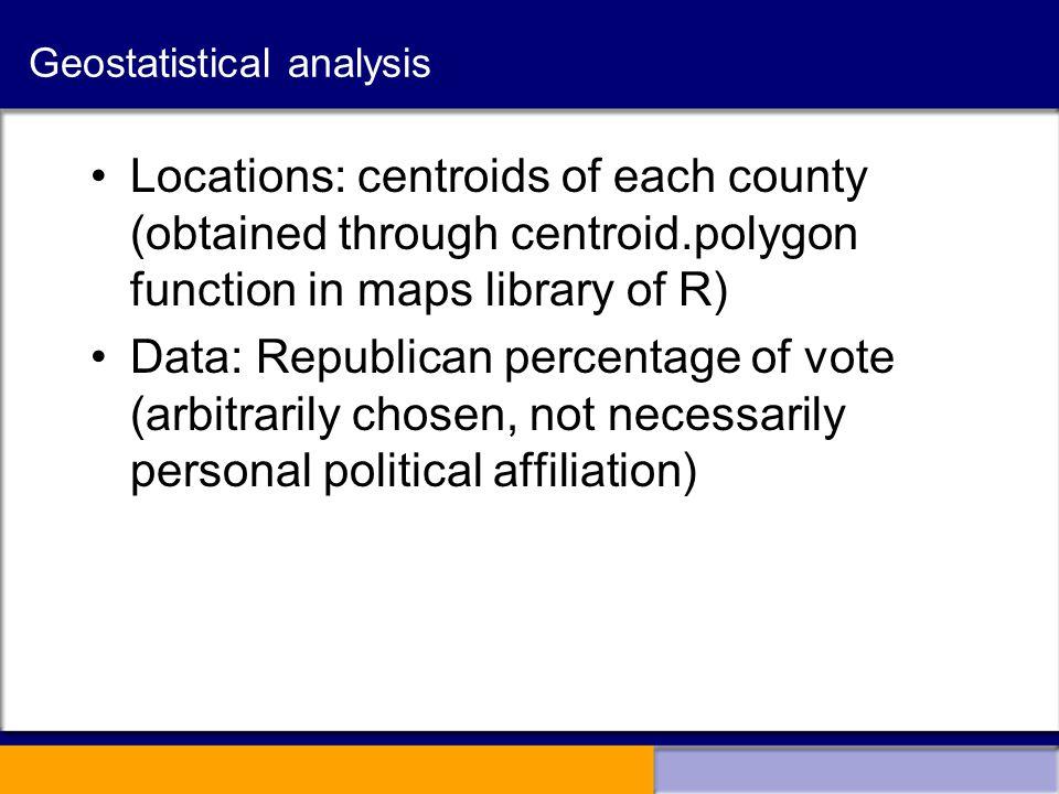 Applying Geostatistical Methods to Lattice Data: An Initial