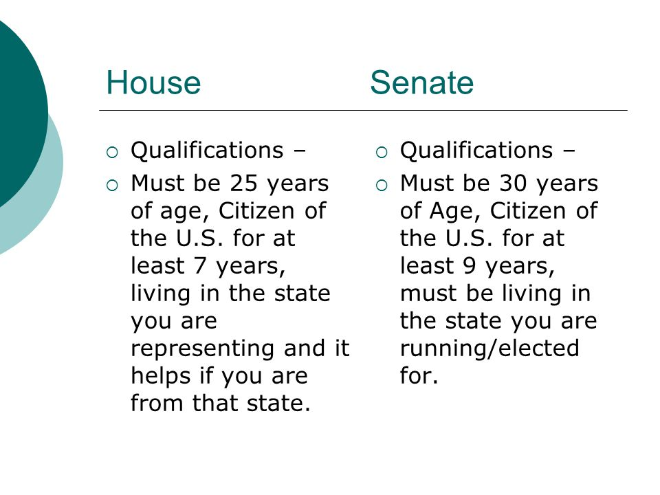 House vs. Senate. HouseSenate  8 year terms  Oklahoma
