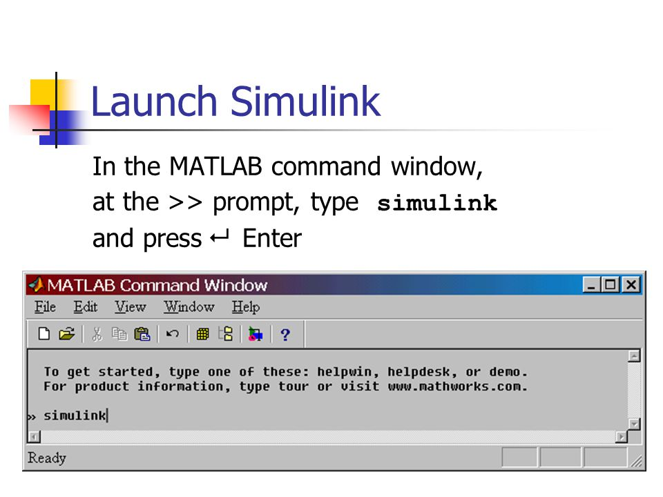 Getting started with Simulink An introductory tutorial ES205