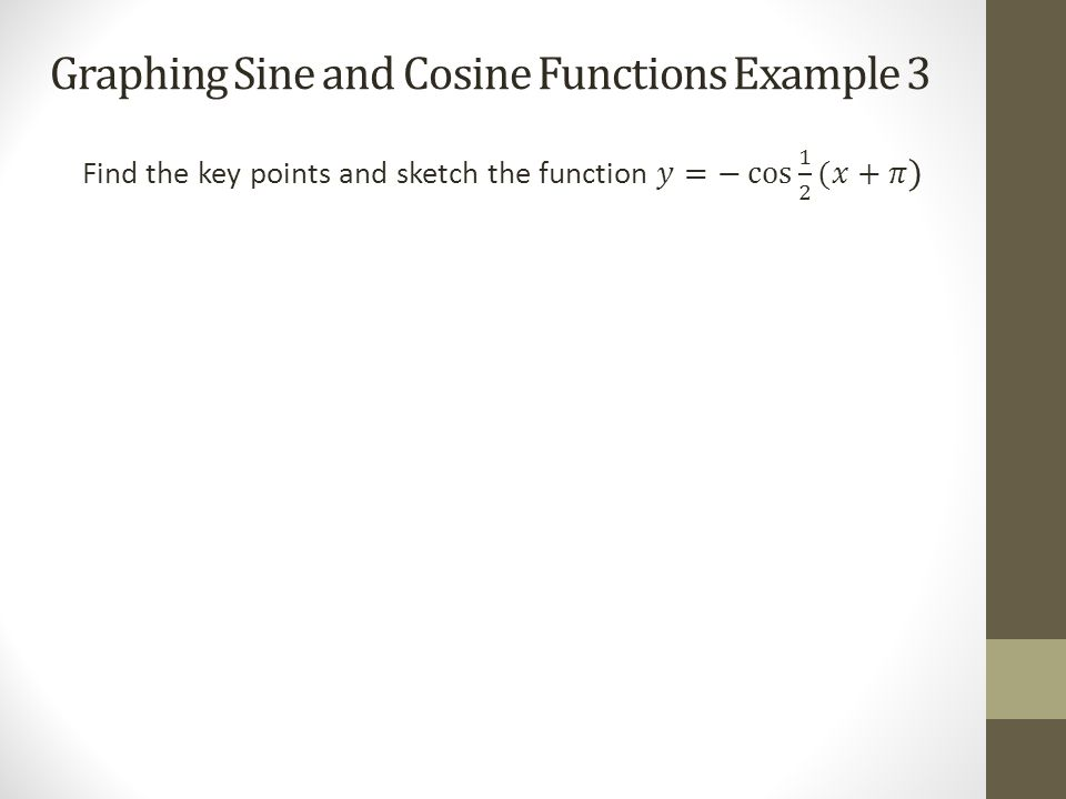 Transformations Of Sine And Cosine Functions Mhf4ui Tuesday November
