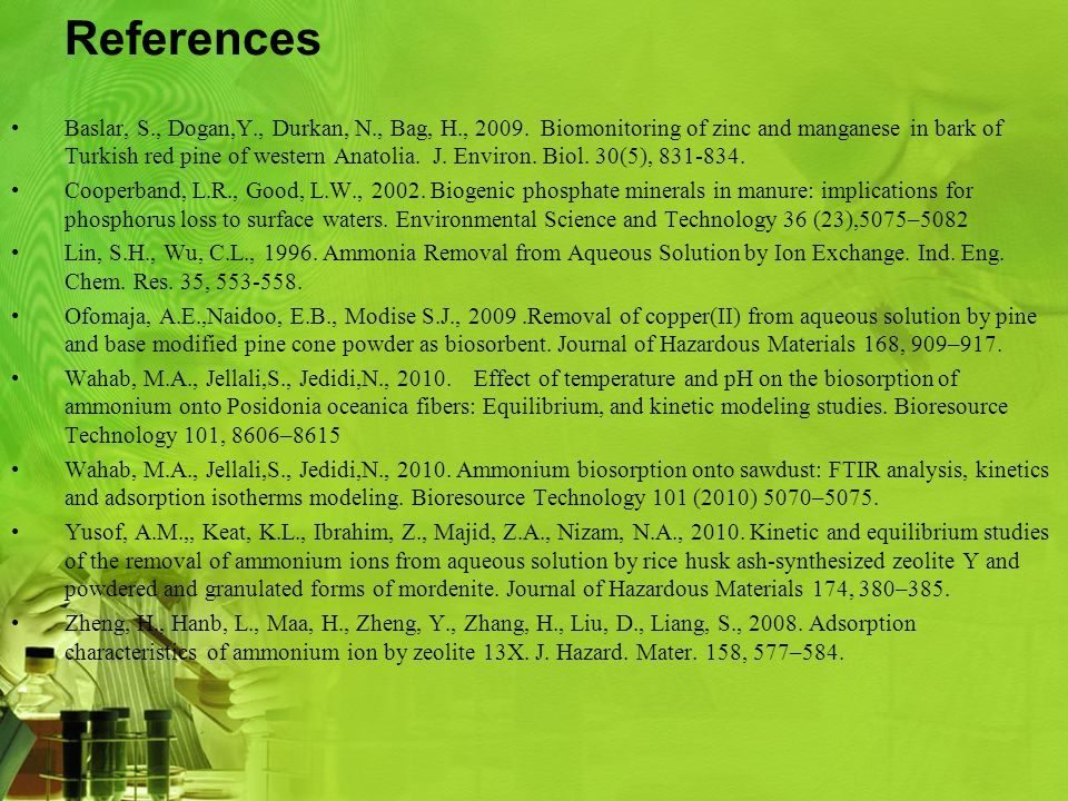 References Baslar, S., Dogan,Y., Durkan, N., Bag, H., 2009.