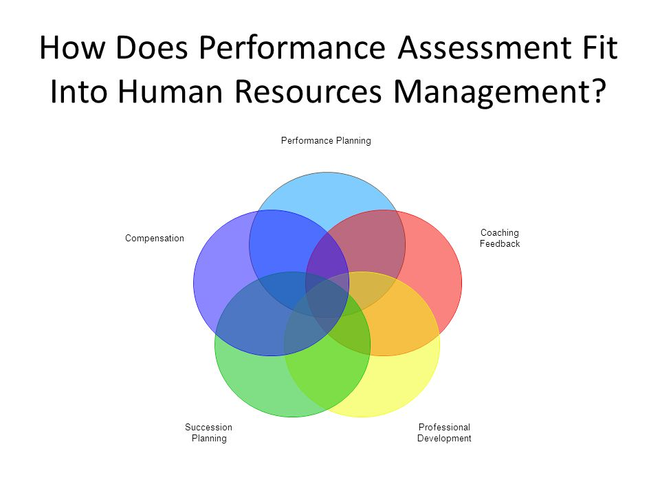 Performance Planning Coaching Feedback Professional Development Succession Planning Compensation How Does Performance Assessment Fit Into Human Resources Management