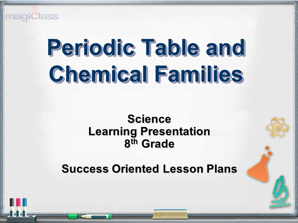 Periodic table periodic table and chemical families science 2 periodic table and chemical families science learning presentation 8 th grade success oriented lesson plans urtaz Images