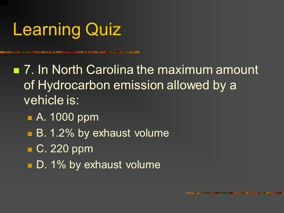 Learning Quiz 7.
