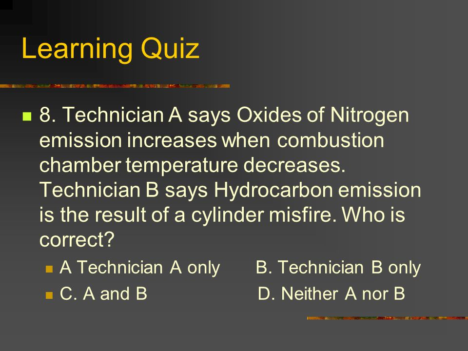 Learning Quiz 8.