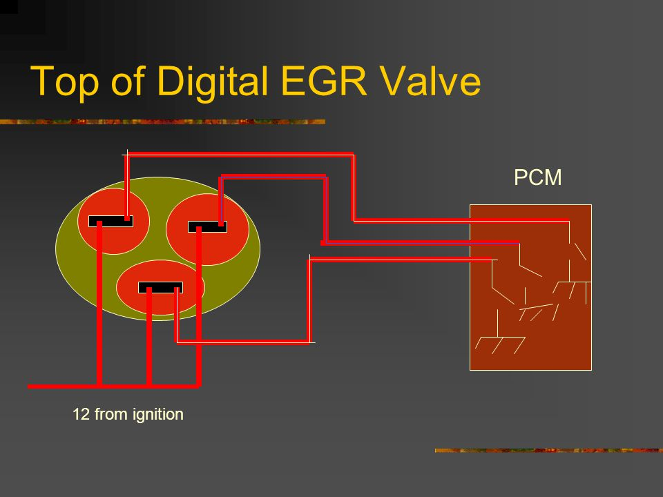 Top of Digital EGR Valve 12 from ignition PCM