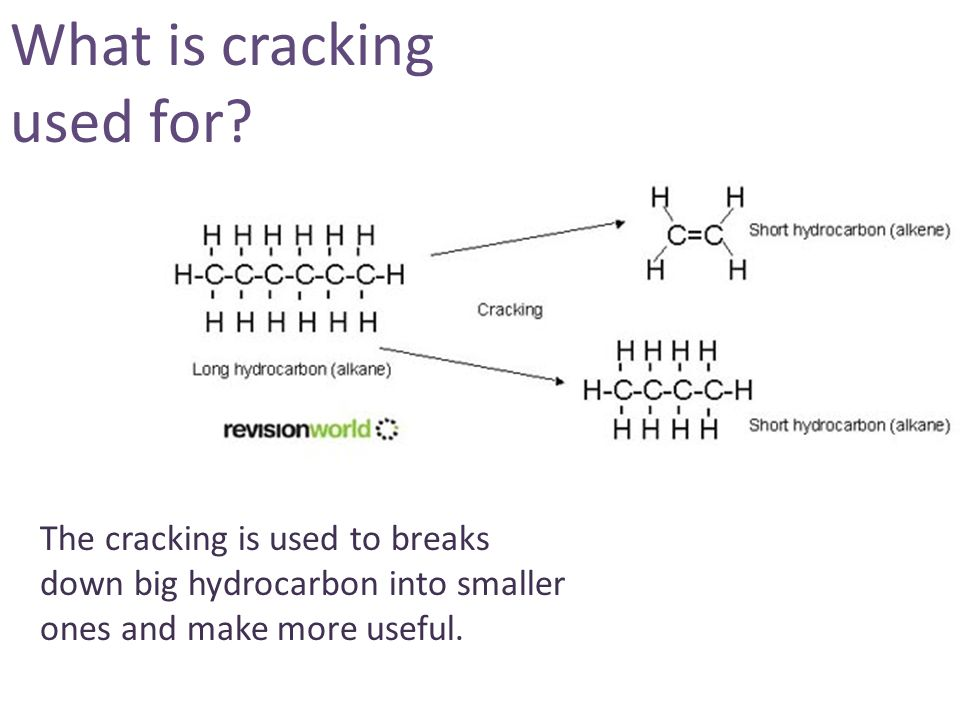 What is cracking used for.