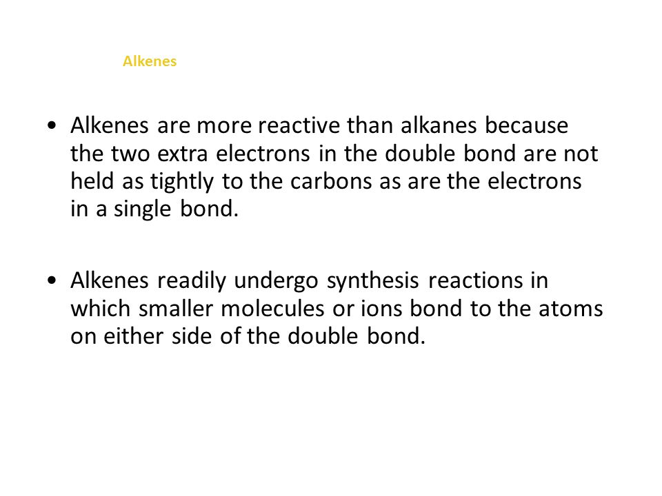 Alkenes Organic Chemistry: Basic Concepts In trans-2-butene, the hydrogen atoms and—CH 3 groups are on opposite sides of the double bond.