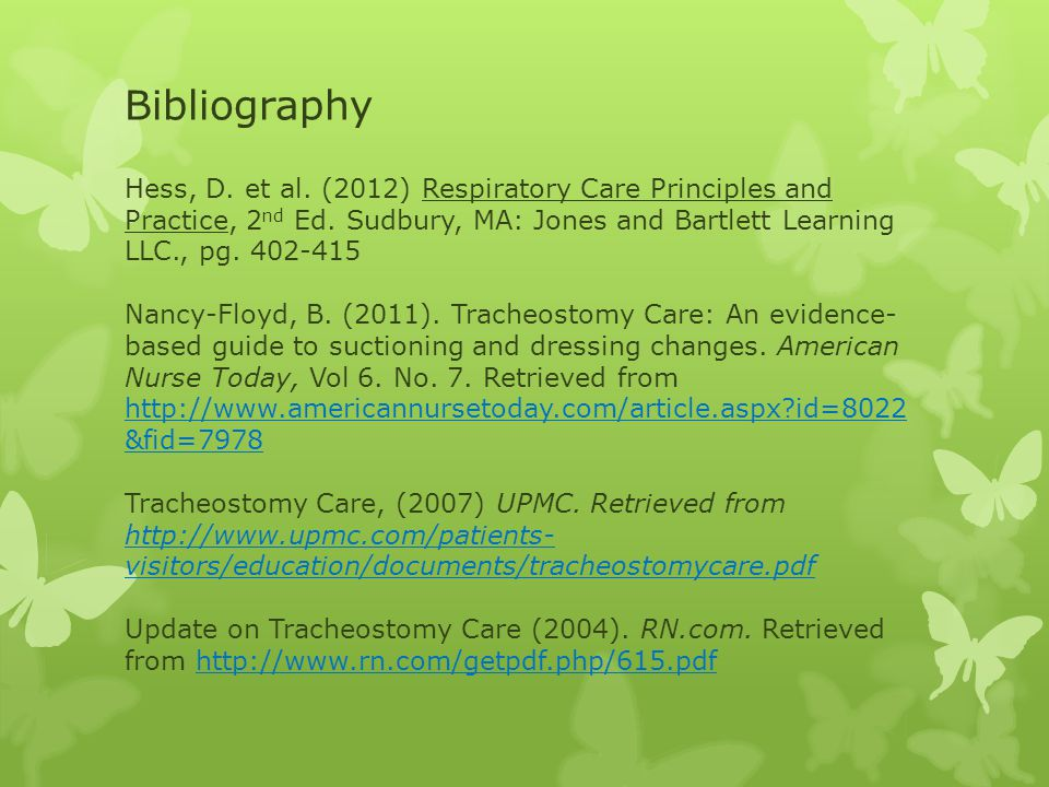 Respiratory Update for SCC Nursing Faculty Tracheostomy Tubes and ...