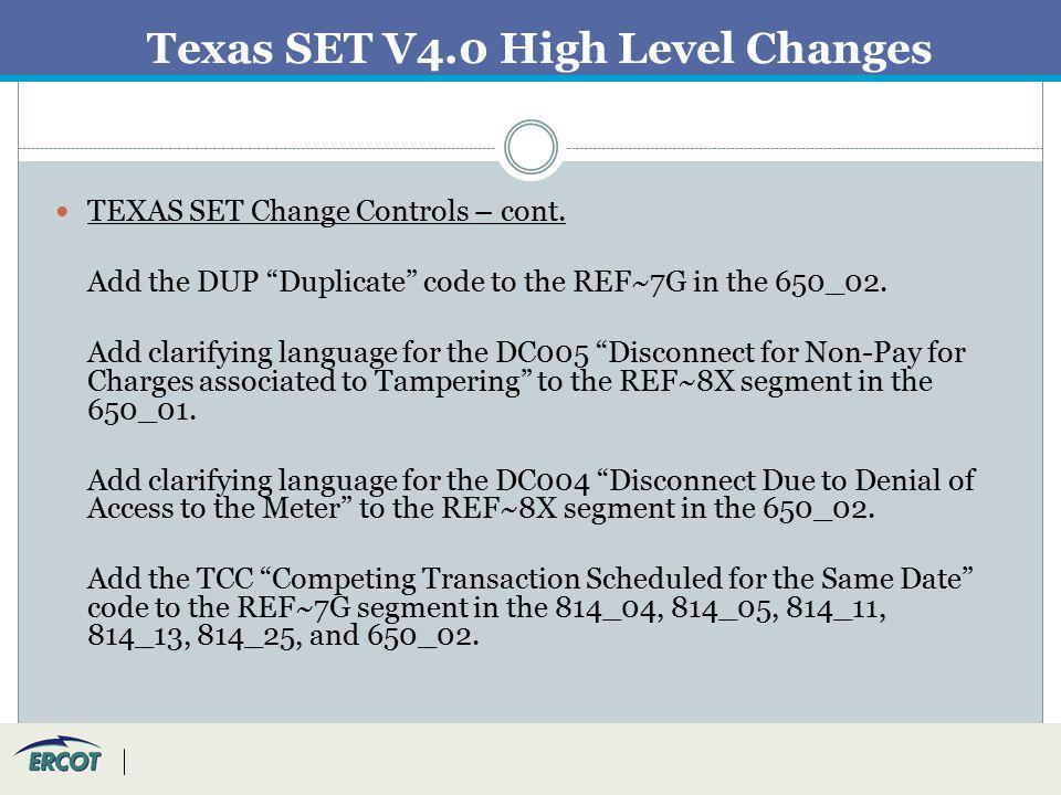 Texas Retail Market Testing Flight 0312– V4 0  Agenda I