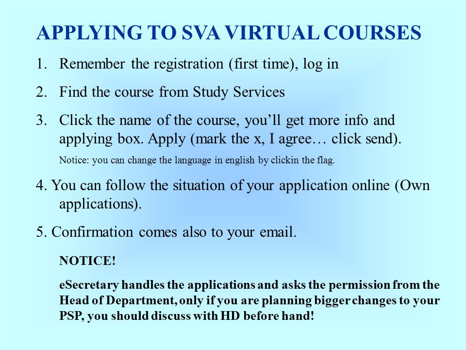 General info about virtual studies Updated by Mira Pihlaja