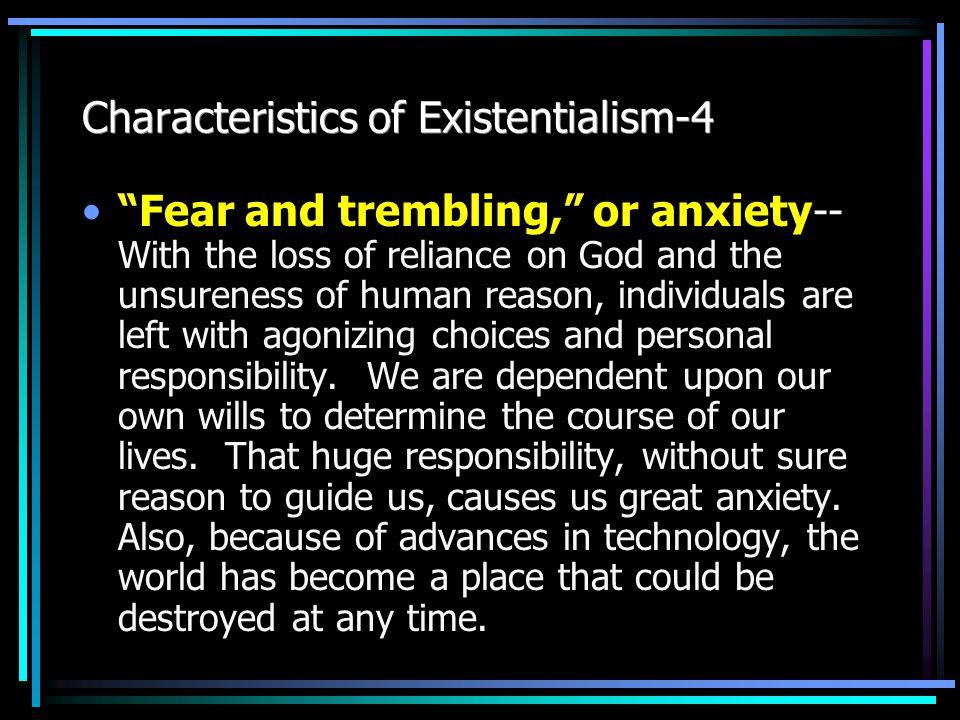 characteristics of existentialist literature