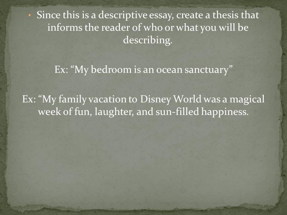 descriptive essay about my family