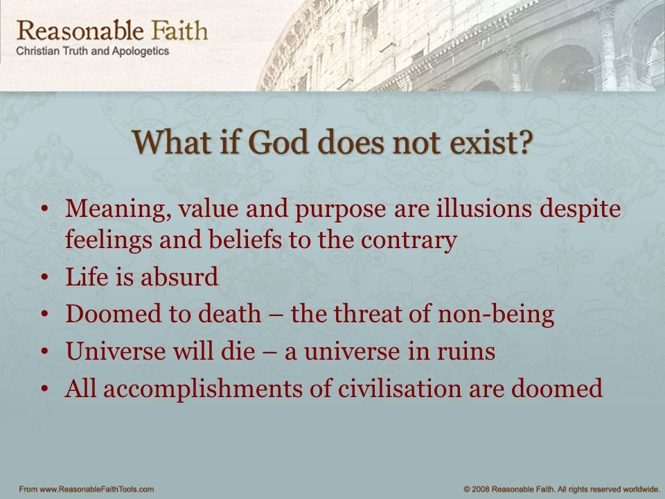 On Guard What difference does it make if God exists? - ppt