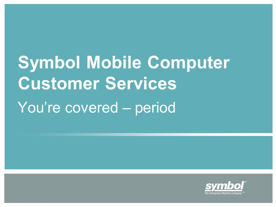 Youre Covered Period Symbol Mobile Computer Customer Services