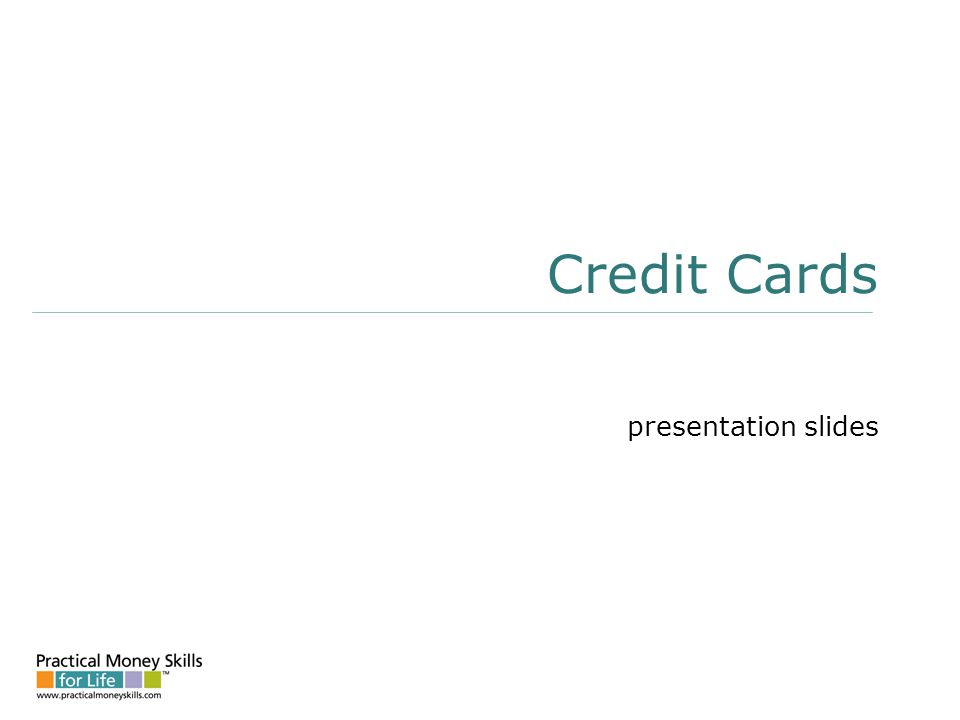 Credit Cards presentation slides