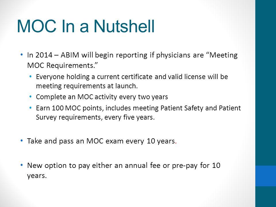 Changes to ABIM's Maintenance of Certification Program