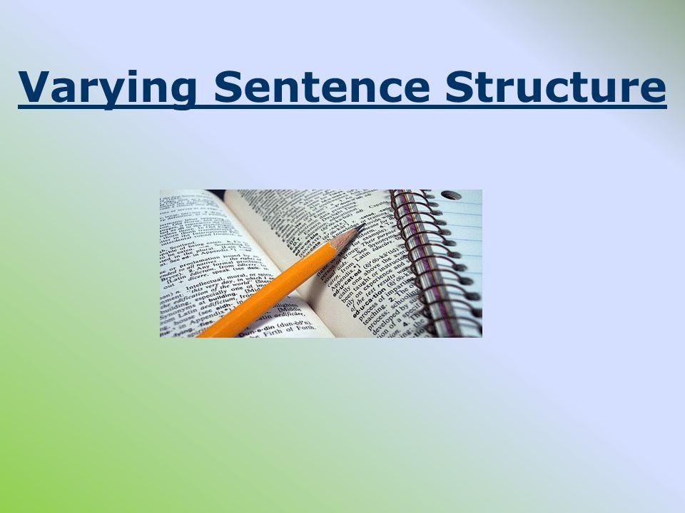 making sentences more interesting