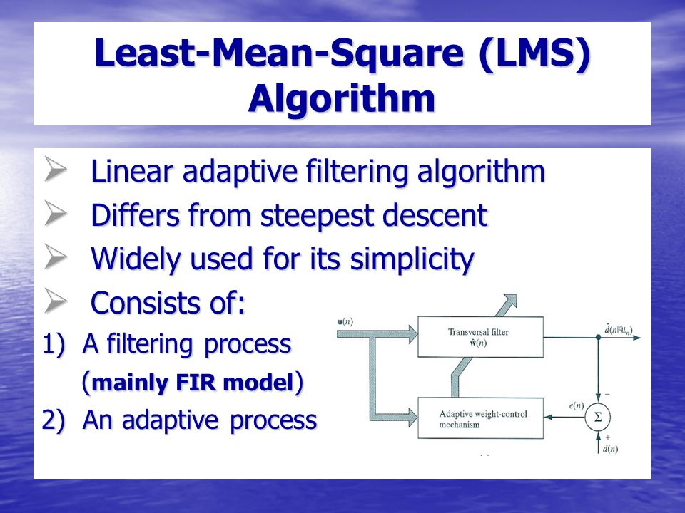 Adaptive IIR Filter Terry Lee EE 491D May 13, ppt download